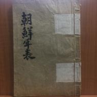 조선연표 (장도빈 찬,1917년)