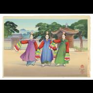 히요시 마모루(일길수日吉守 Hiyoshi, M.) 판화版畫 1점