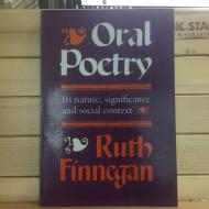 Finnegan:Oral Poetry
