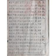 (초주갑인자본初鑄甲寅字本) [史記 卷之八]